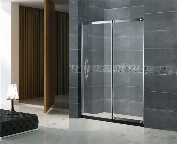 Sliding 304 Stainless Steel Shower Screens Outside Fixed Glass for Apartment / Home